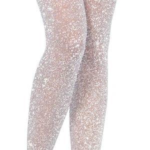 Leg Avenue Intimates & Sleepwear - NWT Leg Avenue OS Shimmer Lurex Tights Silver